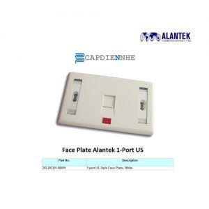 Alantek Faceplate US 1 port Shutter (hình chữ nhật) 302-2T3201-SHAL