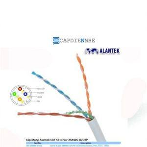 Cáp Tín Hiệu Alantek Cat5e UTP 4-pair Solid Cable, 24 AWG, Grey (305m/reel) 301-10008E-00GY