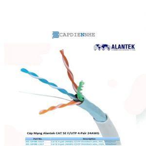 Cáp Tín Hiệu Alantek Cat5e FTP 4-pair Solid Cable, 24 AWG, Grey (305m/reel) 301-10F08E-00GY