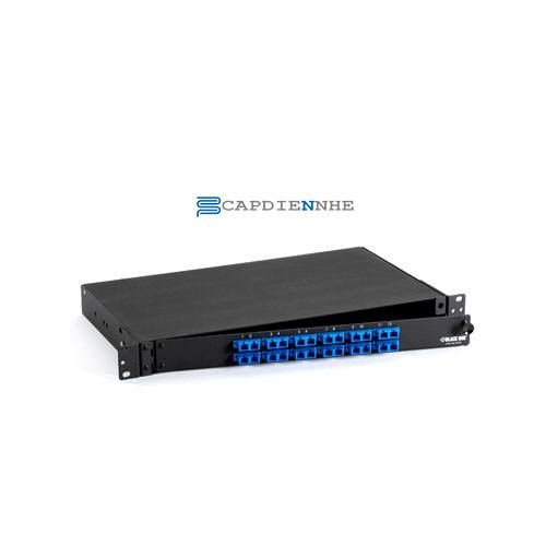 Hình ảnh : 2-1348960-4 AMP Fiber Optic Rack Mount Patch Enclosure, 1U, Duplex SC, 12-Fiber, SM
