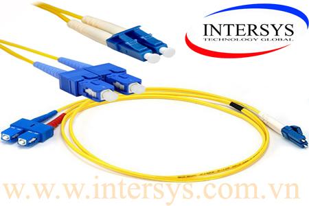 Hình ảnh : Dây nhảy quang Single mode SC-LC / Optical patch cord SC-LC