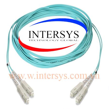 Hình ảnh :2105027-3 Fiber Optic Patch Cord, OM3, LC to LC duplex, 1.8 mm LSZH & OFNR, 3 m, aqua